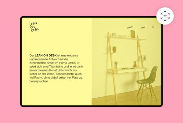 Lean on Desk Webdesign